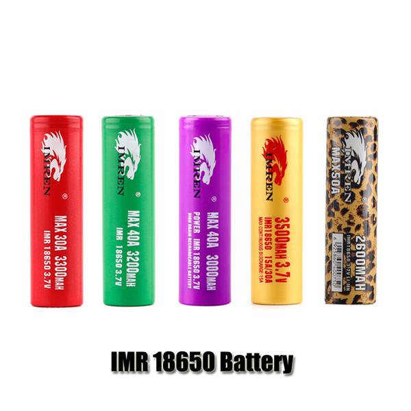 Высокое качество IMR 18650 батарея 3000mAh 3200mAh 3300mAh 3500mAh 3.7 V 30A 40A 50A E Cigs перезаряжаемые литиевые батареи клетки