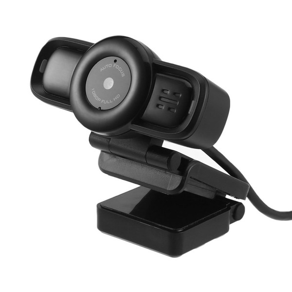 USB Mini Camera Auto Focus Webcam HD 1080P Digital Computer Camera with Built-in Noise Cancelling Microphone for Computer