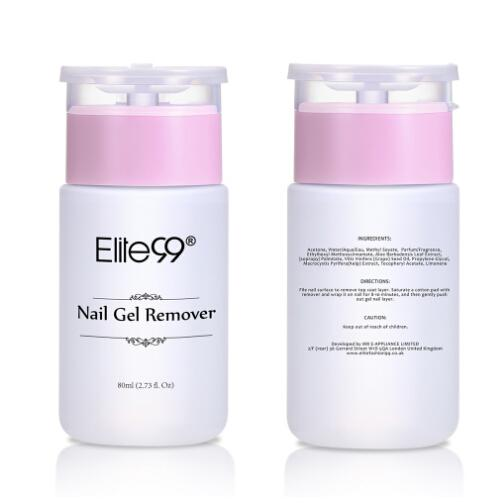 Elite99 High Quality 80ml Clean Nail Gel Remover Art Tools Nail Polish Remover Sticky Liquid use