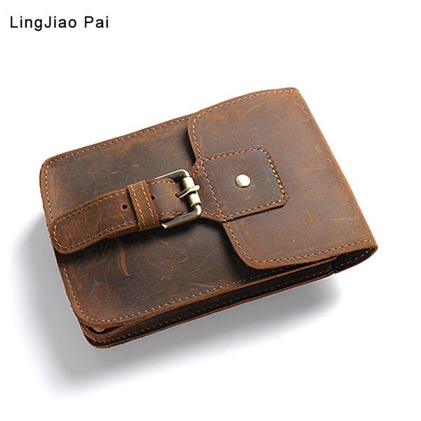 Cintura Cinza De Couro Genuíno PacFanny Pacote Cinto Saco Sacos De Telefone Bolsa De Viagem Pacote De Cintura Masculino Pequena Bolsa De Cintura Bolsa De Couro