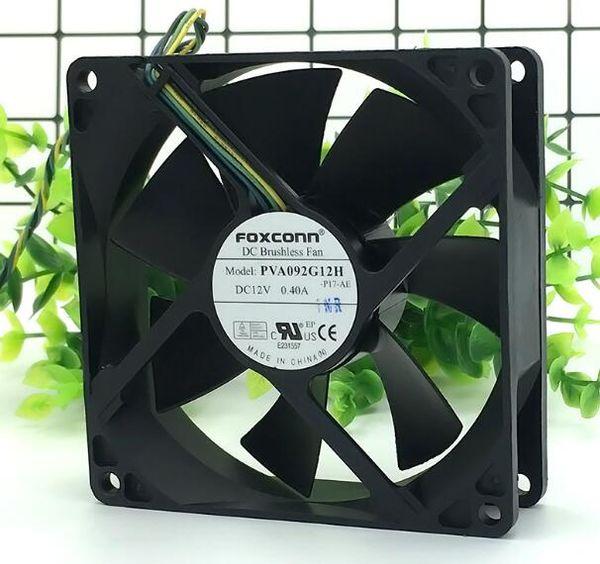best selling Foxconn 90*90*25 PVA092G12H DC12V 0.40A 4 pin PWM large air volume fan
