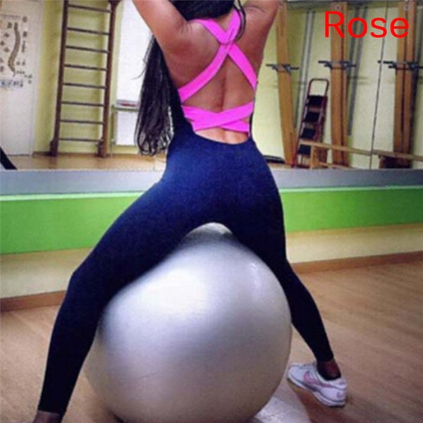 Female Elasticity Fitness Jumpsuit & Rompers Women Skinny Candy Cross Bandage Slim Playsuit Woman High Quality Overalls