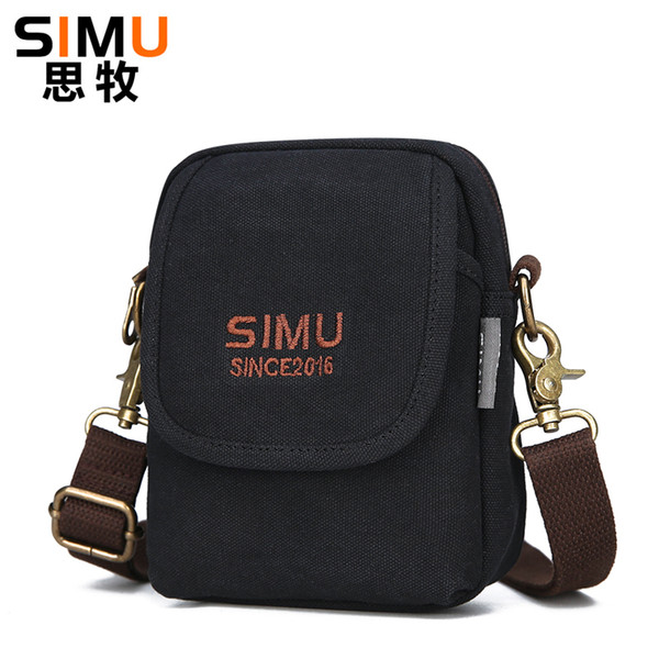 2018 New Design Canvas Waist Bags Man Fanny pack Cell Phone Belt Bags Double Pockets Pouch For wallets Urban Daily Carry Bag