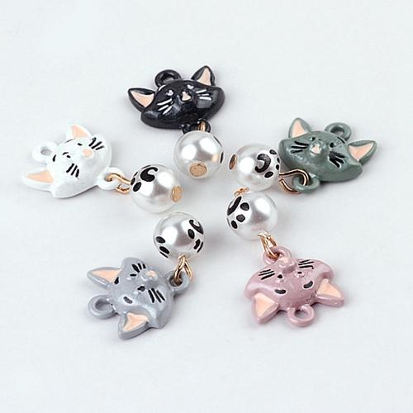 Enameled squirrel cat rabbit charm pendant , bracelet necklace charm , jewelry findings