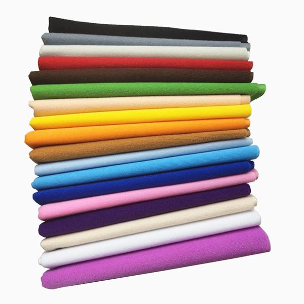 40x50 cm 30Colors Moins Cher Polyester Boucle Tissu Tissu Tricot Velours Tissus Brossés pour Patchwork Coudre Poupée Jouets En Peluche Tissu