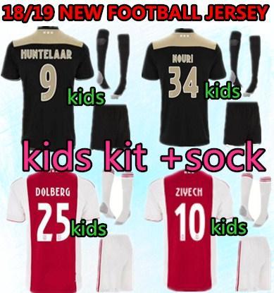 7666031c4 Ajax kids Soccer Jersey 18 19 Ajax FC ADULT kit Jerseys away KITS 2018 2019  Customized