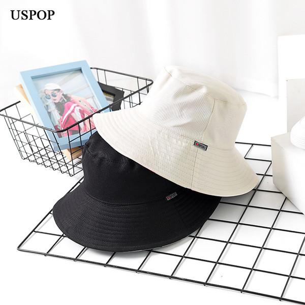 2018 nueva mujer de algodón a cuadros sombreros del cubo de ala ancha  ocasional a cuadros e1bc1bfc1fa8