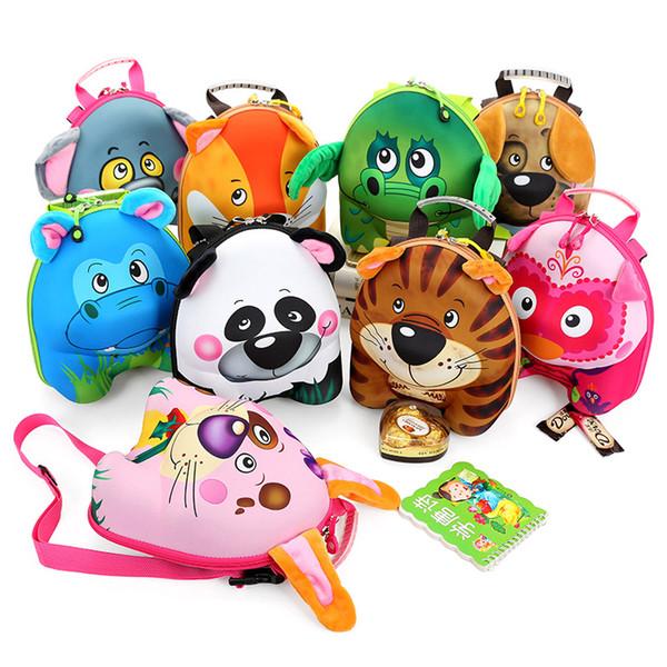 DUDINI New 3D Cute Animal Design Backpack Kids School Bags For Teenage Girls Boys Cartoon Shaped Children Backpacks Big Size