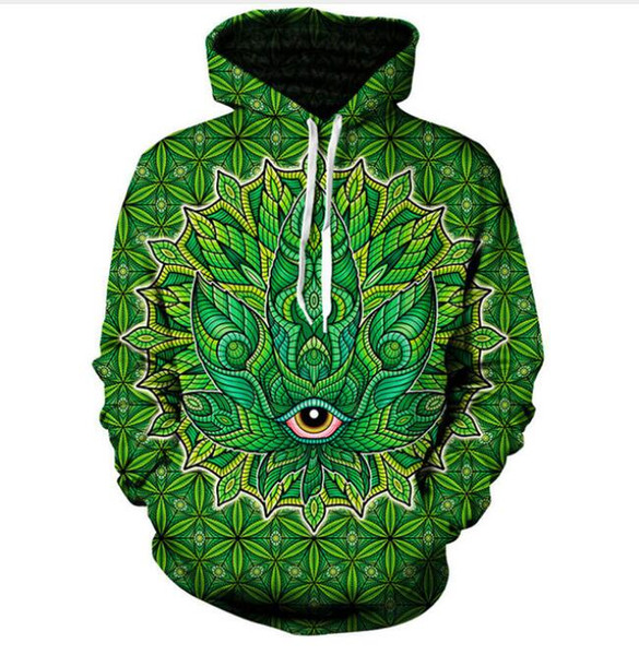 New Fashion Women/Men Couples Psychedelic 3d print Hoodies Hoody Long Sleeve Hooded Sweatshirts Pullover Top LM0163