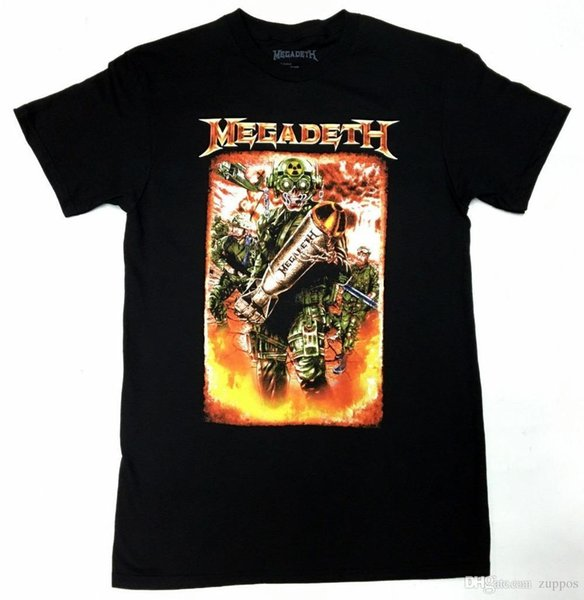 Summer 2018 Famous BrandMegadeth T-Shirt NEW Authentic & OfficialCartoon tee shirt homme high quality top tees