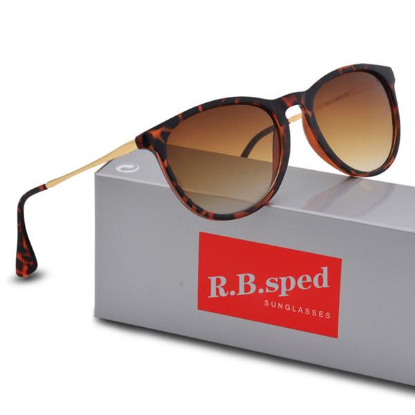 Gafas de sol de alta calidad de la nueva manera para el hombre Mujer Gafas de sol de la marca de fábrica del diseñador de Erika Gafas de sol de Matt Leopard Gradiente UV400 Caja y cajas
