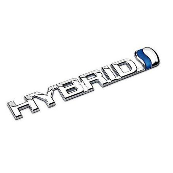 3D Metal HYBRID Car Sticker Emblem Badge for Universal Cars Moto Bike Decorative Accessories