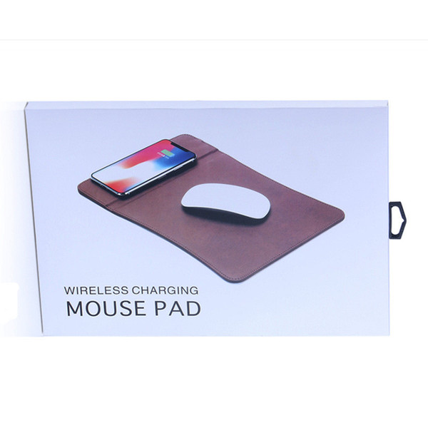 PU Mouse pad 5W Qi wireless charger cell phone holder universal charging base For iphone8 X Xs Max Xr S10 S10 plus
