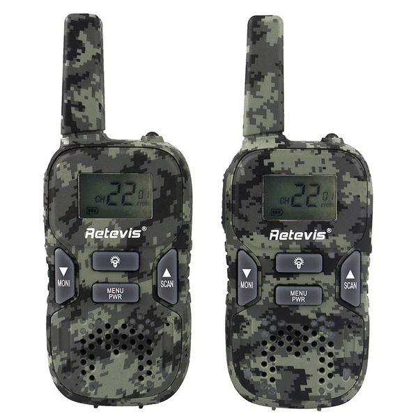 KIDS Retevis RT33 Walkie Talkie zivile Funkhandheld-Tarnung Wireless Walkie Talkie GMRS / PMR LED-Licht Handheld