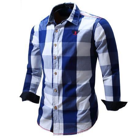 2018 nova chegada dos homens camisa de manga longa camisa dos homens camisas de vestido de marca de moda casual business style camisas 100% algodão