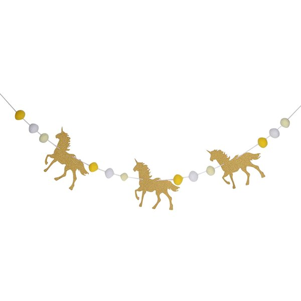 1 Set One Year Happy Birthday Horse Garland Party Room Decoration Banner Party Children Decoration Flags