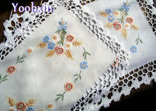 HOT lace cotton crochet table place mat pad cloth doily cup Christmas placemat coaster drink pot mug holder kitchen accessory
