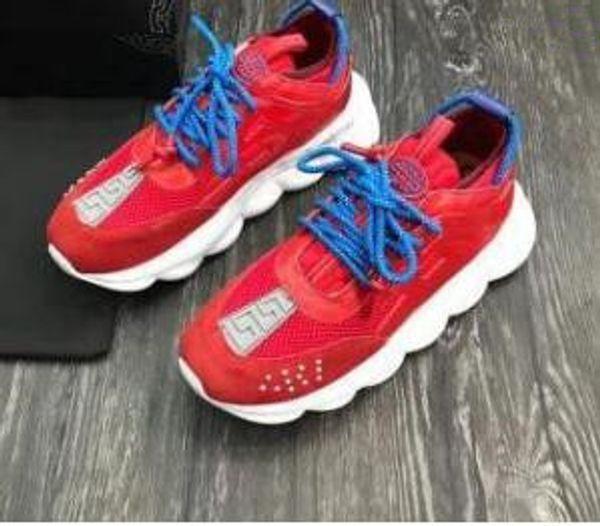 ¡Calidad superior! REACCIÓN DE LA CADENA Amor zapatillas de deporte mujeres hombres rojo negro cadena de peso ght vinculado diseñador deporte moda Casual Shoes m15135