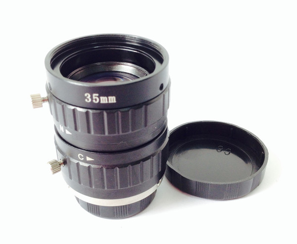 Free shipping low distortion fixed focus 5mp c mount 2/3 inch 35mm mega pixels cctv industry lens