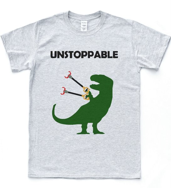 Imparável T-Rex T-shirt Engraçado Desenho T Dinossauro Dino Natureza Animal TopClassic Qualidade alta t-shirt