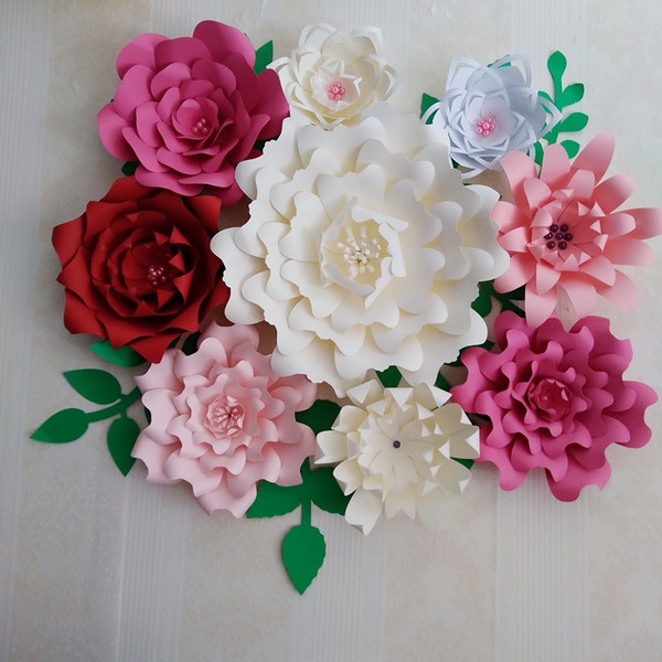2019 2018 Diy Giant Paper Flowers Full Kits With Video Tutorials Wedding Backdrop Baby Nursery Bridal Baby Shower Mix Colors Styles From