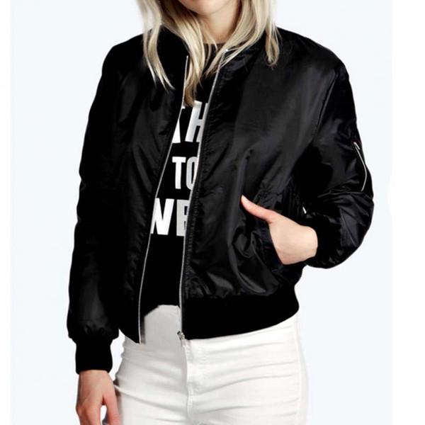 2018 nueva moda para mujer clásica acolchada chaqueta corta acolchada Bomber Jacket Coat