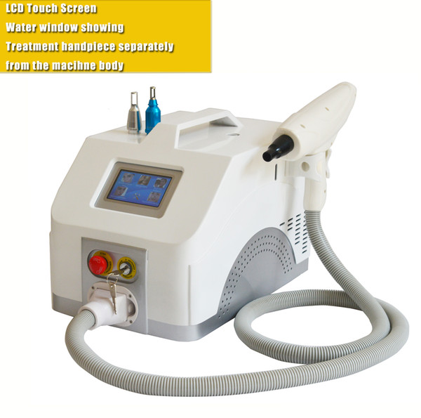 Free shipping ND.YAG Q switch laser machine for tattoo removal eyebrow eyeline cleaning pigmentation with 1064 532 1320 skin rejuvenation