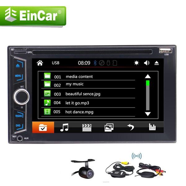 "Double 2Din In Dash 6.2""Car DVD CD GPS Navi Multimedia Headunit Bluetooth/GPS/USB/AM FM RDS/Remote Controller+Wireless Rearview Camera"