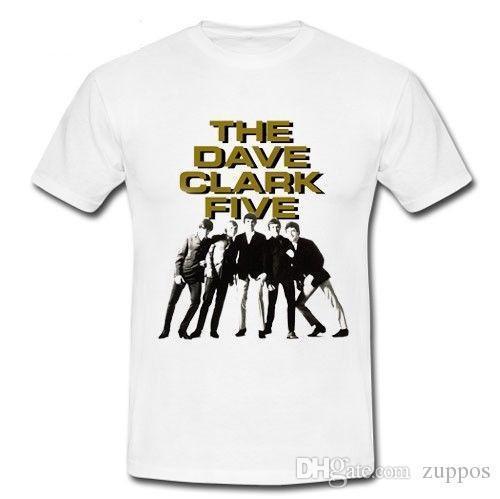 Homme de bassin, on se croirait dans l'espace du groupe de rock psychédéliqueT-shirt Tee-shirt S M L XL 2XL T-shirt Casual à encolure dégagée et col t-shirtThe Dave Clark Five pop