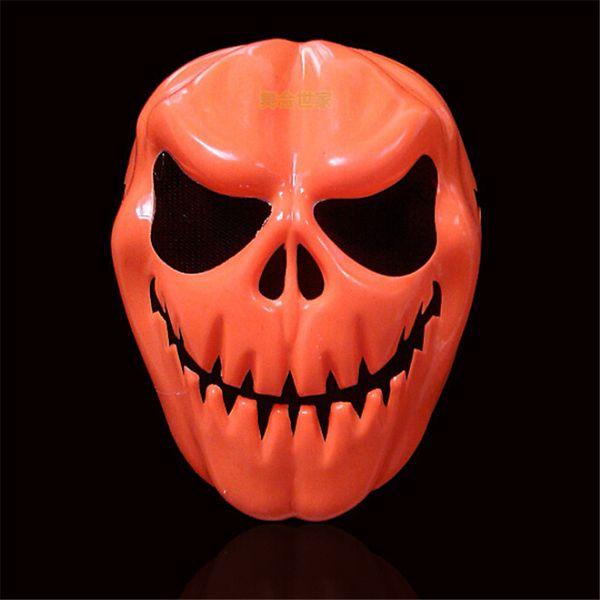 10PcsSet Halloween Party Supplies Horror Pumpkin Face Resin Mask Cosplay Photo Props Halloween Terrorist Mask A8A65