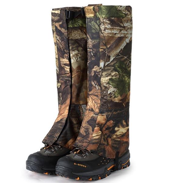 1 Çift Açık Su Geçirmez Kar Kapakları Kayak Yürüyüş Çorapları Çizmeler Ayakkabı Kar Bacak Erkek Kadın Legging Kamuflaj Kapakları