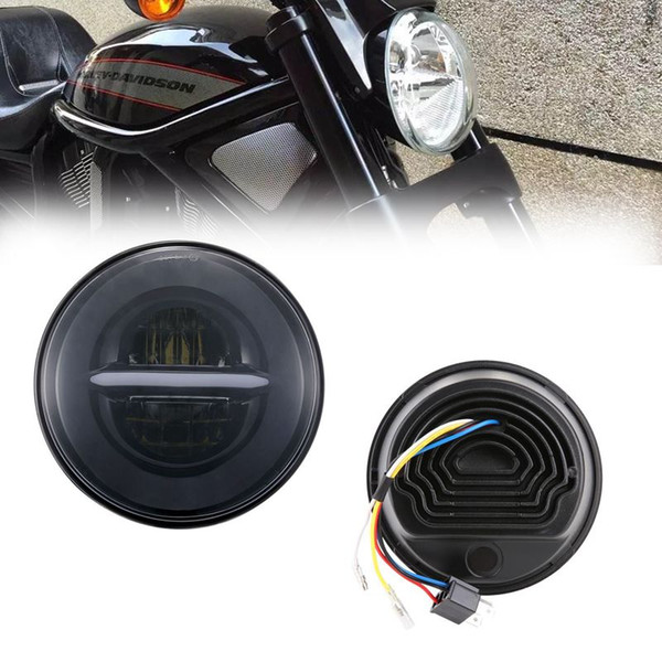 1pcs For Motorcycle 7Inch LED DRL Headlight with Daytime Running Light Motorbike Projector Headlamp