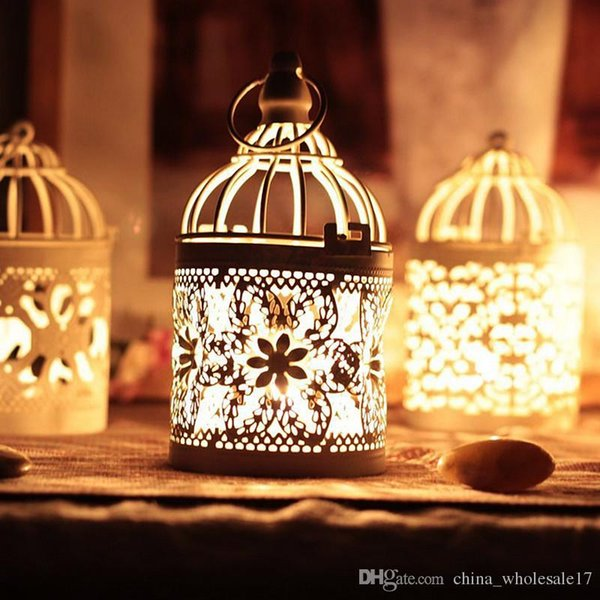 Lowest Price Ever New Arrival Decorative Moroccan Lantern Votive Candle Holder Hanging Lantern Vintage Candlesticks Bird Cage Candle Holder