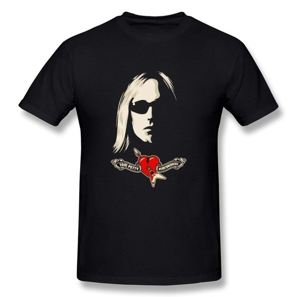 Tee Shirt Sites Short Sleeve 100% Cotton Men's Tom Petty And The Heartbreakers Logo T-Shirt Print Crew Neck Tee For Men