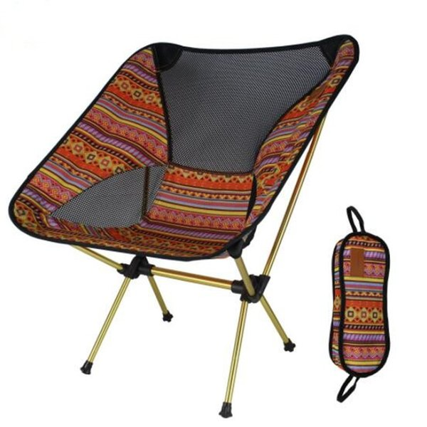 5pcs Lightweight Breathable Backrest Aluminum Outdoor Folding Chair Portable Beach Sunbath Garden Picnic Barbecue Camping Fishing Chair