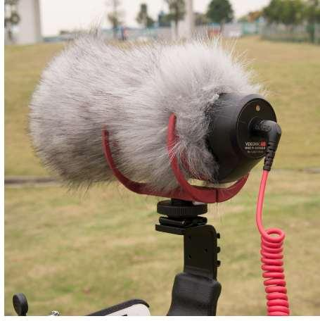 DHphoto Microphone Windshield Windscreen for Takstar SGC-598 MIC-01 DeadCat Go Artificial Fur Wind Shield