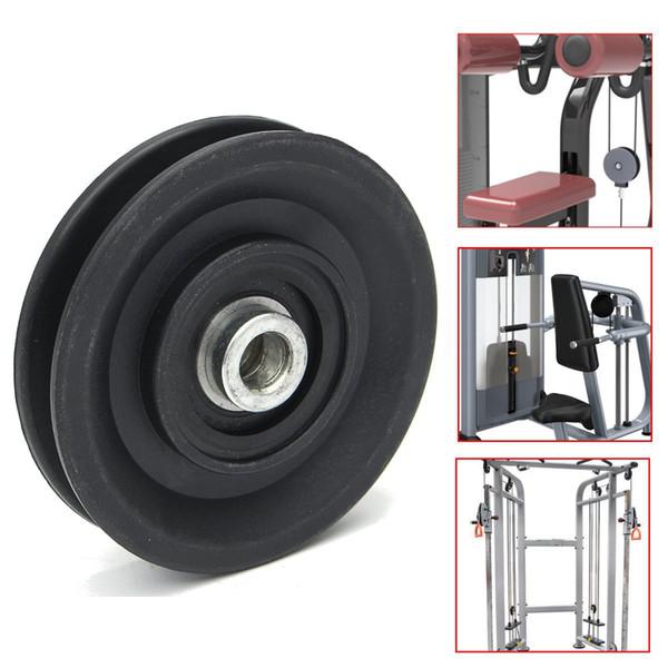 Rodamiento de polea 90 mm Nylon resistente al desgaste Rodamiento Polea Rueda Cable Gimnasio Universal Fitness Equipment Part