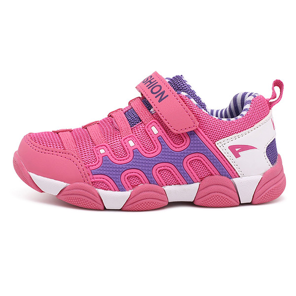 2018 New Spring Autumn Children Shoes Boys Sneakers Girls Sport Shoes Pink Caterpillar kids Leisure Shoes Child Running Trainers