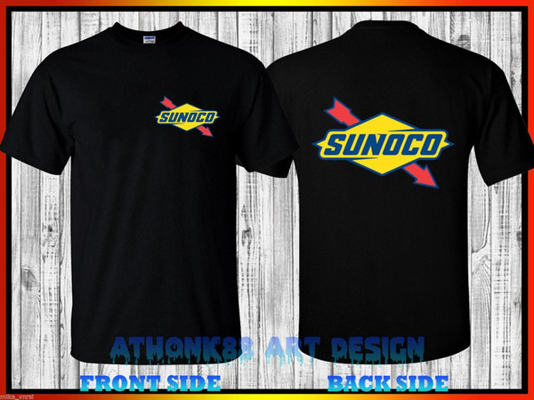 Футболка Sunoco Racing 2017 NHRA Mello Yello Drag Racing Series Футболка с коротким рукавом из хлопка Мода Бесплатная доставка Футболка Homme