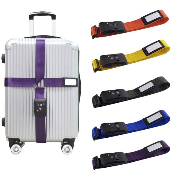 Luggage Strap Travel Baggage Tie Adjustable Suitcase Combination Down Belt Lock Luggage Safety Accessories