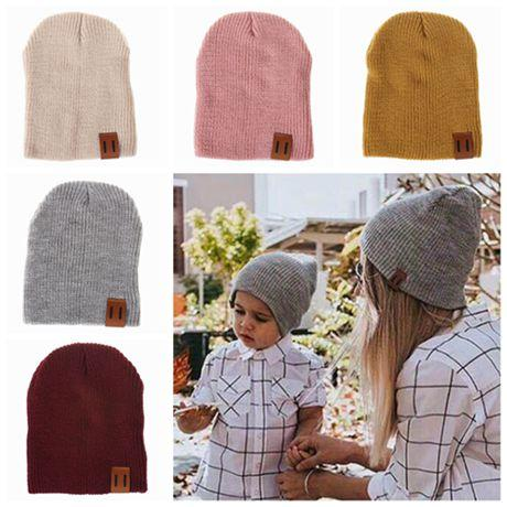 2019 Baby Winter Hats Caps Matching Family Wool Hats Wholesale Unisex Kids Beanies  Hats Knitted Hat Mother And Daughter Dad Son Bonnets Earflaps From ... a7569f8ecc7