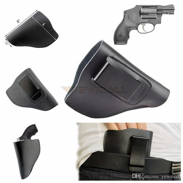 2019 Tactical Leather IWB Gun Holster Pistol Holster For Right Hand Fits  Most J Frame  38 Special Revolvers Ruger LCR Smith From Yonmall, $4 52  