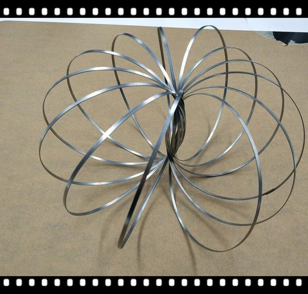 Newest Flow Ring Spinner Stainless Toroflux Arm Toy Metal Flow Rings Interactive Kinetic Spring Bracelet Science Educational Tool