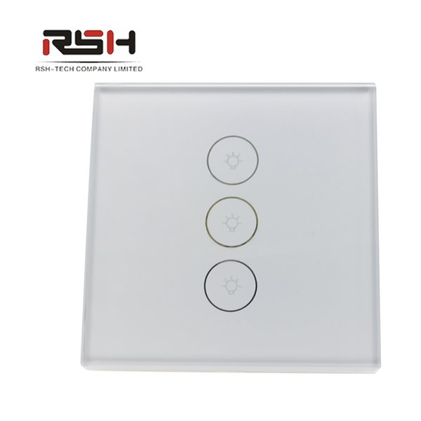 Regulador inteligente funciona con Alexa / Google Home / IFTTT Wall Light Switch WiFi Touch Stepless 1 Gang APP Control remoto,