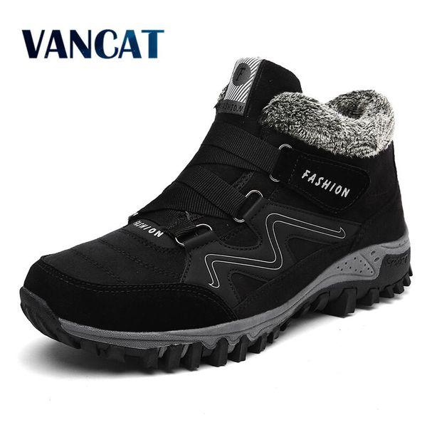 Männer stiefel herren Winter Schuhe Mode Schneeschuhe Schuhe
