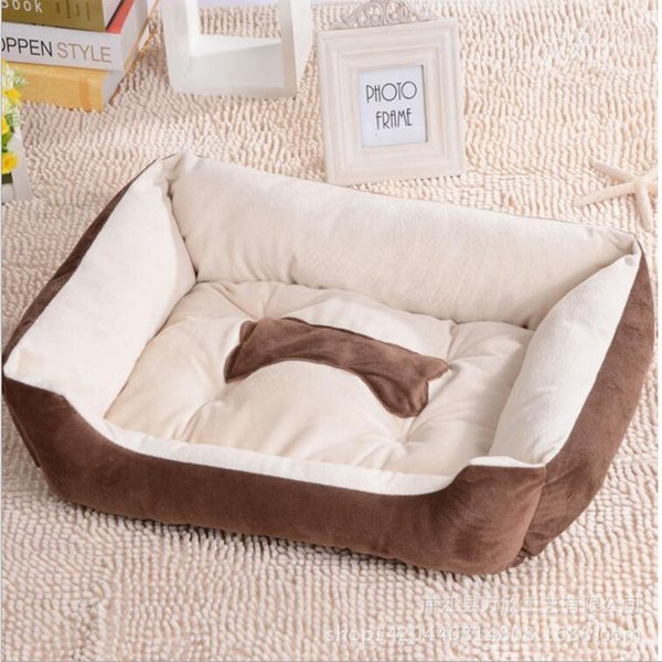 Top Quality Various Size Large Dog Lounger Bed Kennel Mat Soft Fiber Pet Dog Puppy Warm Soft Bed House Product For Dog And Cat