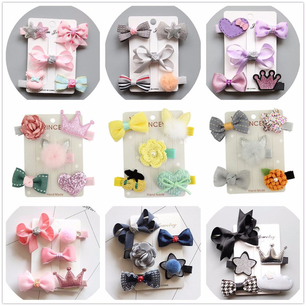 kawaii hair accessories bows for children clips tiara headdress girl hairclip hairpin hair barree ornaments headwear hairgrips