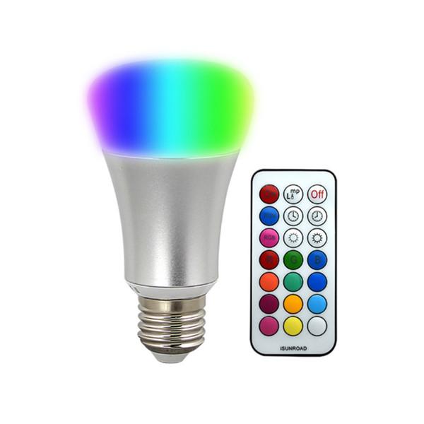 Compre Del Bombilla Mando LED La es Luces CA Luz Hogar 265V A6 Etapa Para RGB 10W De Distancia Brillo Lámpara E27 LED De 85 Con El La 92 De De A RGB 4RjL5A