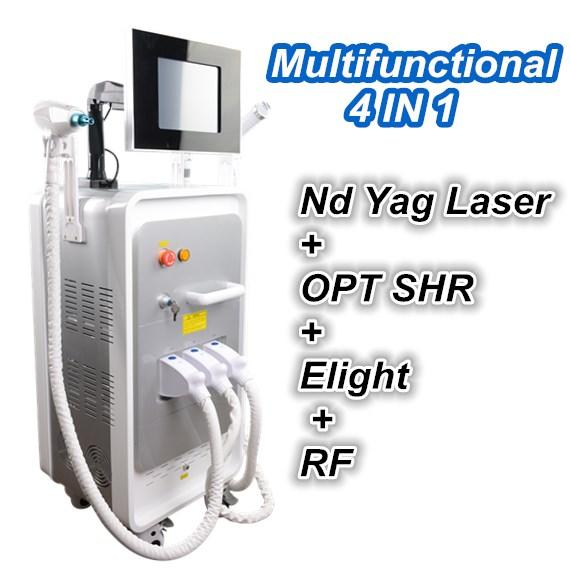 OPT SHR IPL Machine IPL Painfree Laser Hair Removal ND YAG LASER tattoo removal e light RF Skin Treatment Acne Therapy Beauty Equipment