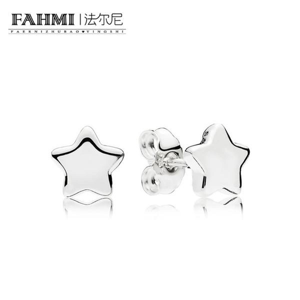 FAHMI 100% Sterling silver 1:1 Glamour 296374 Shining Stars Earring Studs Original Women wedding Fashion Jewelry 2018